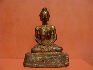 Emaciated Siddhartha. (photo by ancientartpodcast.org)